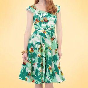 Aida Zak Hawaiian print dress with belt US 8
